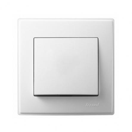 Выключатель одноклавишный Lezard Lesya 10 А 250В белый 705-0202-100 - 1