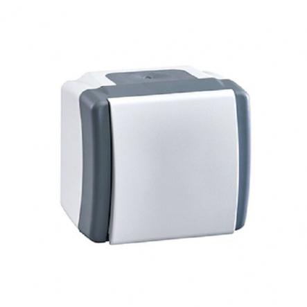 Выключатель одноклавишный Mono Octans без подсветки 10 А 250В серый 154-020001-100 - 1