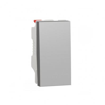 Выключатель одноклавишный проходной 1 модуль Schneider Electric NU310330, 10А 1М (алюминий) - 1