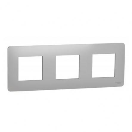 Рамка трехпостовая Schneider Electric NU200630 (алюминий) - 1