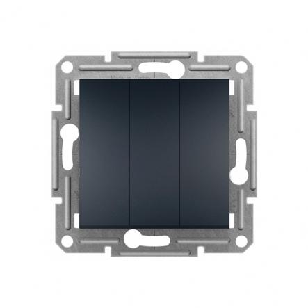Выключатель 3-кл. самозаж. антрацит Schneider Electric ASFORA - 1