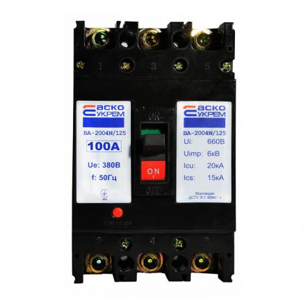Автоматический выключатель ВА-2004N/125 3р 100А АСКО - 1