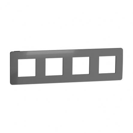 Рамка четырехпостовая Schneider Electric NU280853 (никель/антрацит) - 1