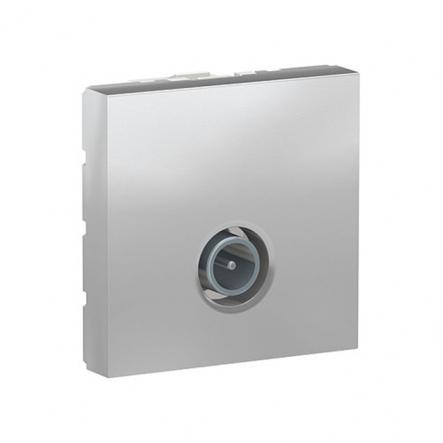 Розетка одинарная TV Schneider Electric NU346230 2М (алюминий) - 1