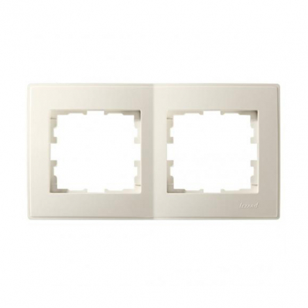 Рамка двухместная Lezard Lesya горизонтальная кремовый 705-0300-147 - 1