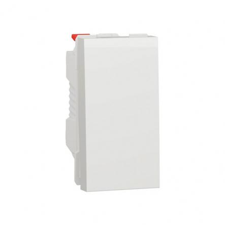 Выключатель одноклавишный проходной Schneider Electric NU310318, 10А 1М (белый) - 1