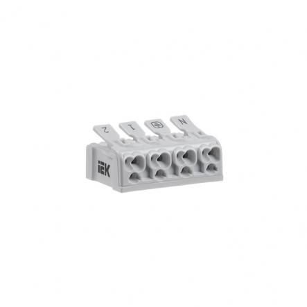 Клемма пружинная соединительная КСПз4-2L+N+PE IEK - 1